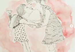 Illustratie bij gedicht van Roos Vlek